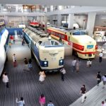 Mengagumi museum kereta api Umekoji Park di Shimogyo Ward